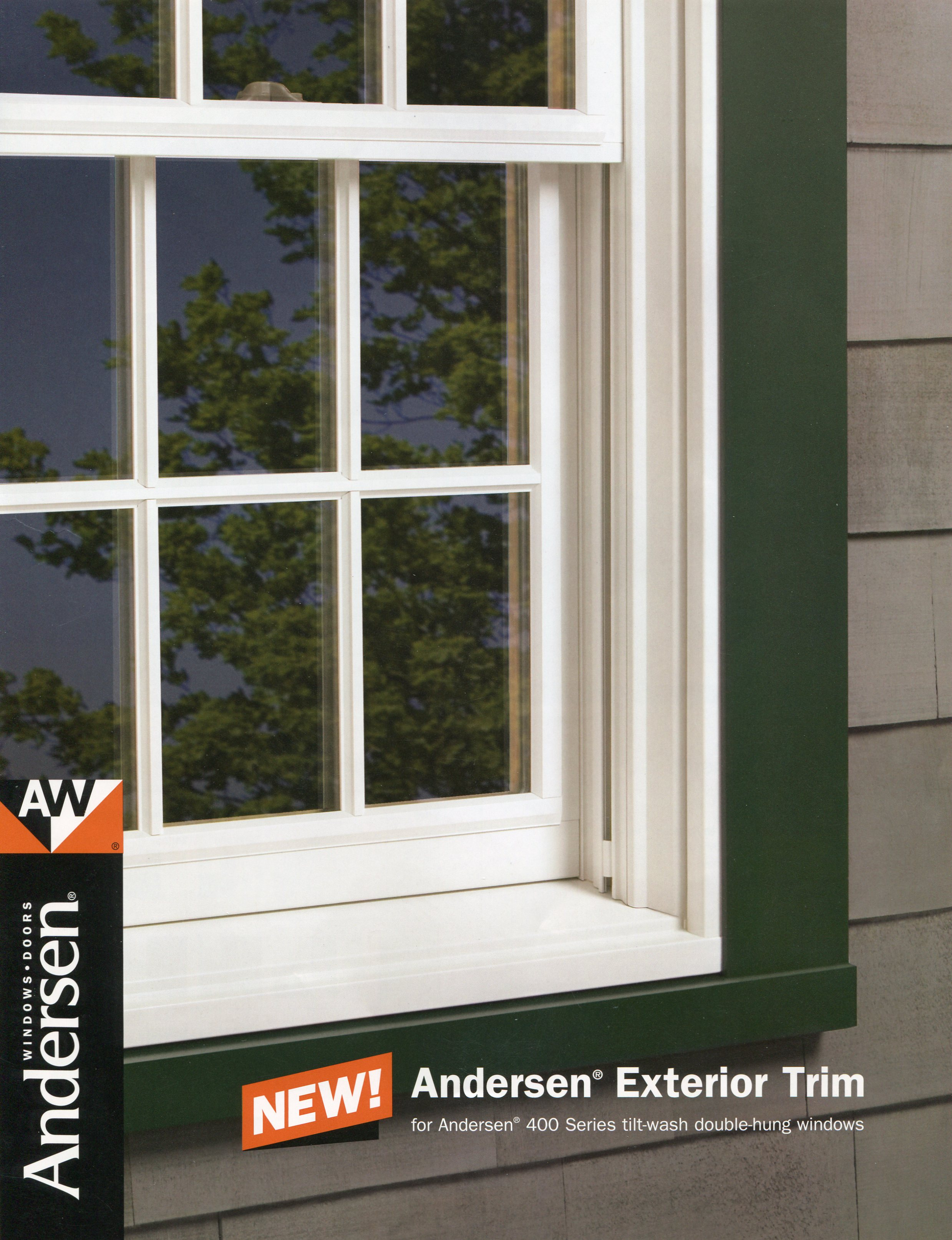 Andersen Replacement Window in MA Exterior Trim