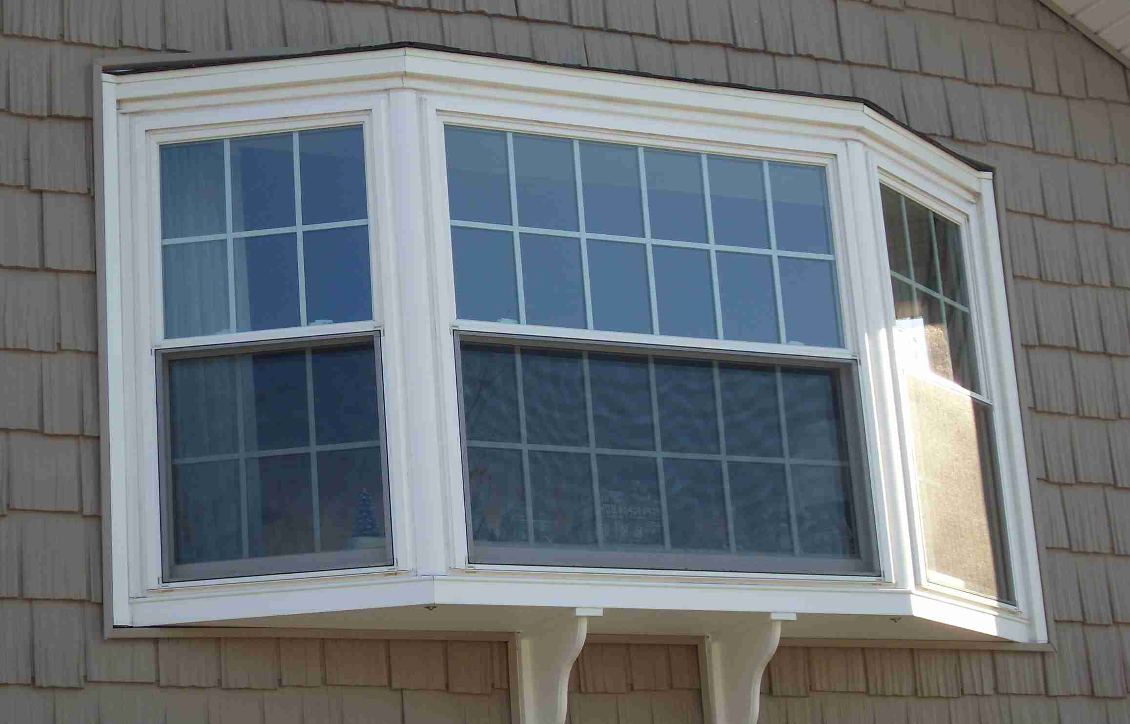 Without the cables your bay window replacement will sag for House window replacement