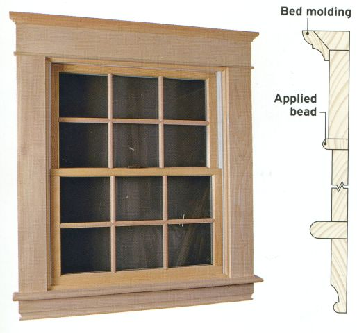 Window wood interior casing replacement windows in ma for Interior window molding designs