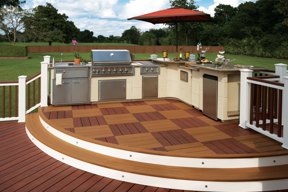 A two-toned, checkered pattern Trex Deck