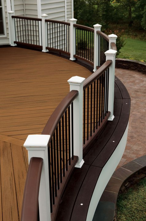 Railings in Classic White and Vintage Lantern colors