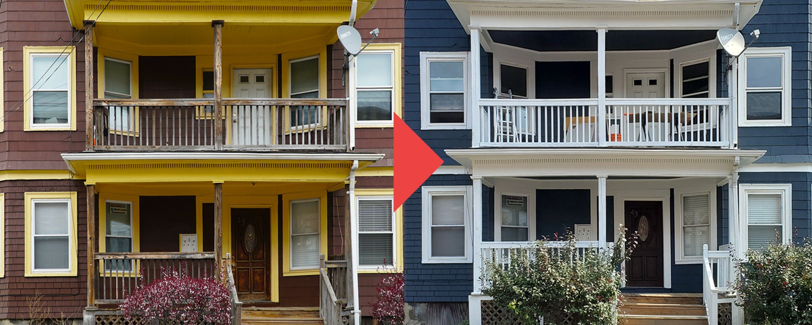 Painted Vinyl Siding - Before & After