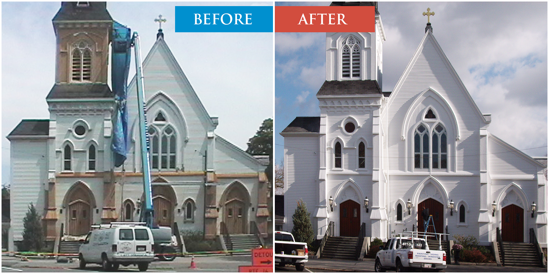 Cmmercial Painting Services. Church Painters.