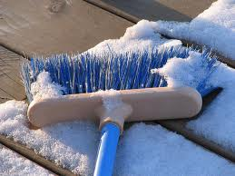 HOW TO REMOVE SNOW FROM A WOOD DECK