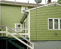 Green-House-Color-White-Trim