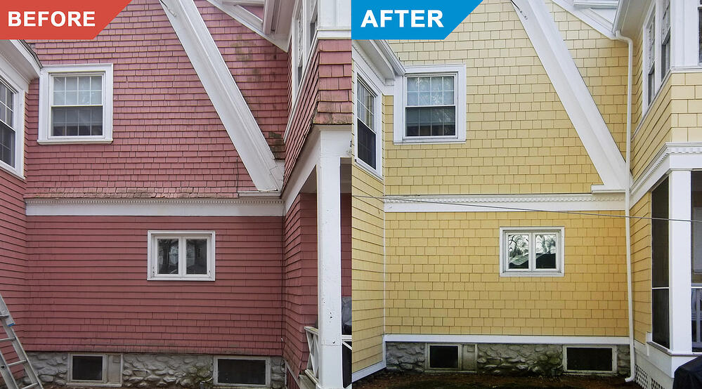 Siding-Replacement-Before-After-Installation-Color-Change-Red-Siding-to-Yellow-Siding-by-Franca-Services