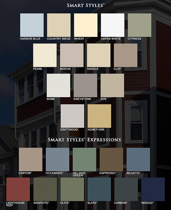 SmartStyles-Vinyl-Siding-Colors