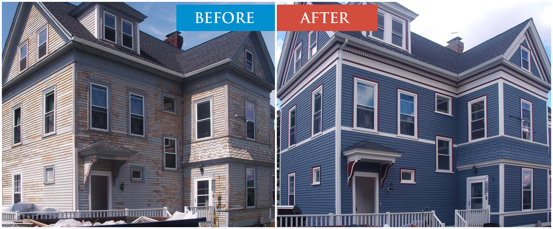 House Painting Serbices, Before After.