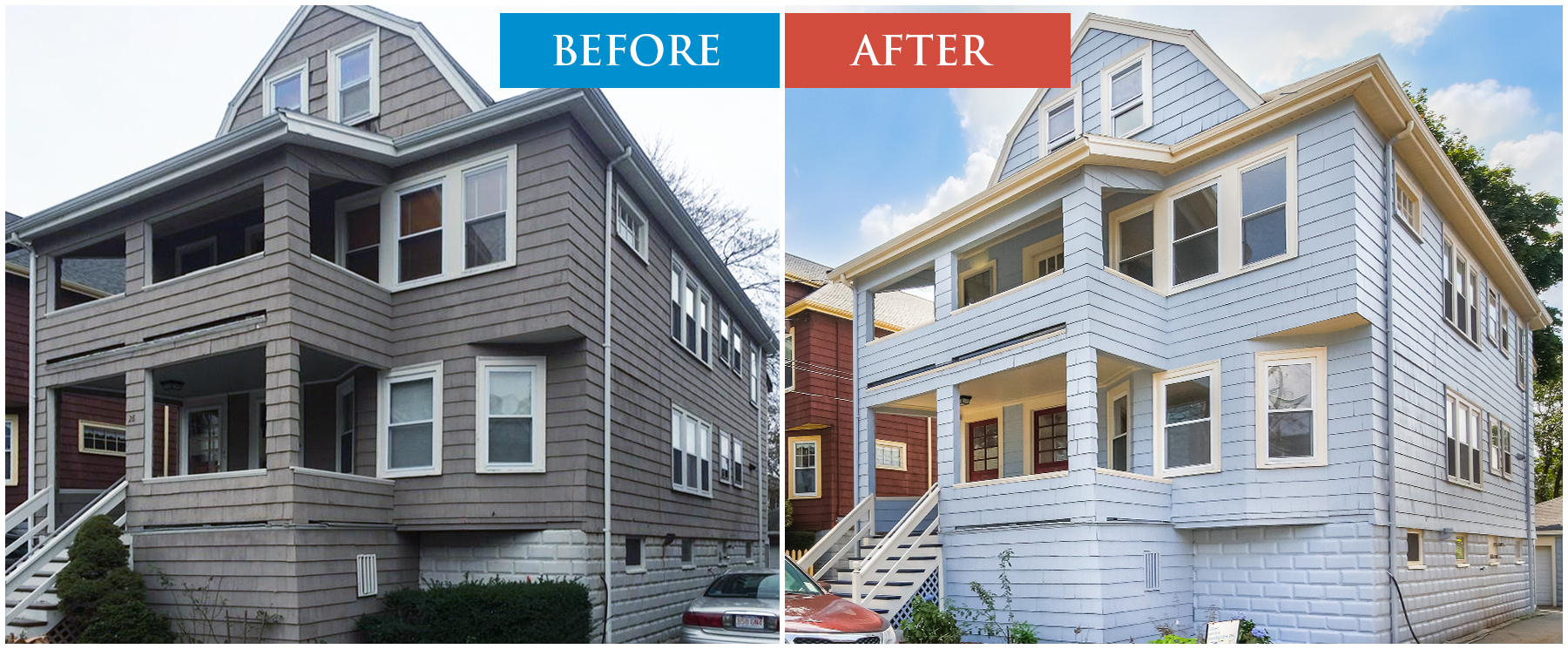 House Painted Before After