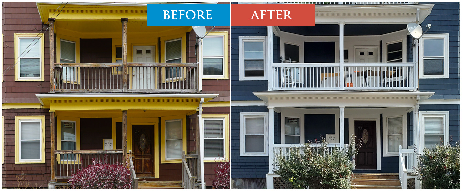 House Painting Transformation Before After Exterior Paint Job