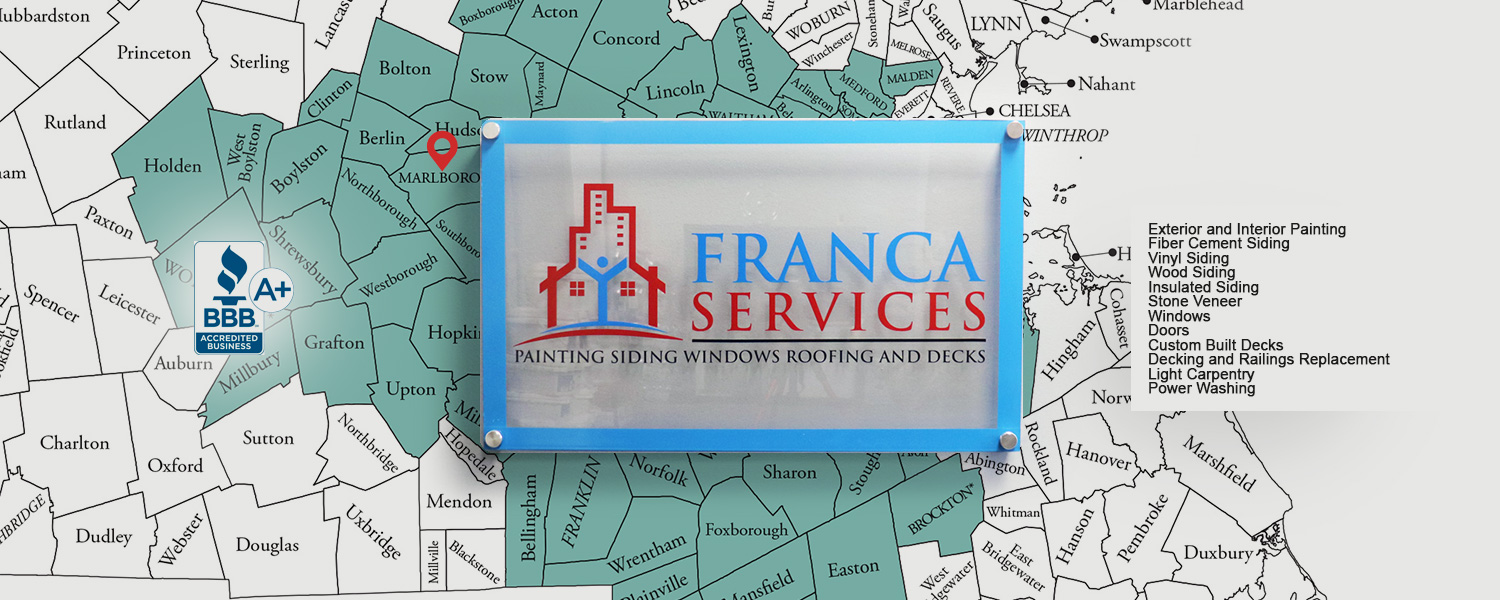 About Franca Services. Marlborough MA. Siding, Painting, Decks, Windows, Doors, Power Washing and More.